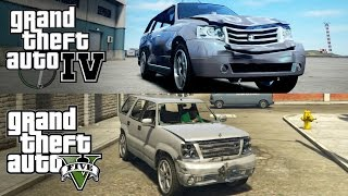 GTA V vs GTA IV [Car Damage Physics]