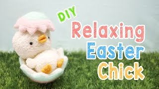 getlinkyoutube.com-DIY Relaxing Easter Chick Plush - Kawaii Easter Decoration Animal Plush Tutorial