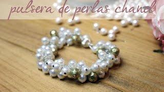 getlinkyoutube.com-DIY Pulsera de perlas Chanel