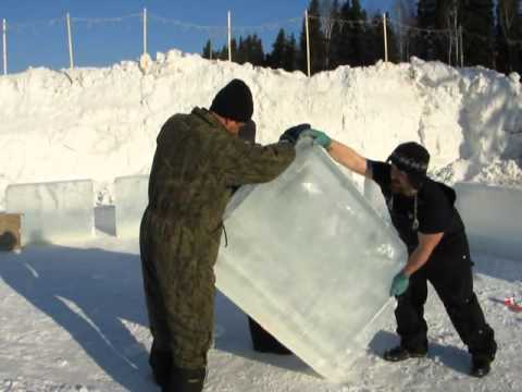 World Record Ice Bar Construction in Progress part 1
