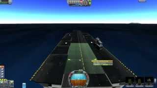 getlinkyoutube.com-Kerbal Space Program - Carrier Mod - Landing on a Postage Stamp... or not.