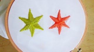 getlinkyoutube.com-Hand Embroidery: Star Stitch