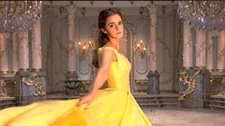 getlinkyoutube.com-First Look at Emma Watson as Belle in Iconic Yellow Gown in Beauty & The Beast Live Action Movie