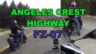getlinkyoutube.com-My friends FZ-07 and my 300 on Angeles Crest Highway