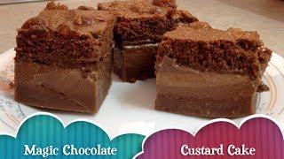 getlinkyoutube.com-Magic Chocolate Custard Cake cheekyricho