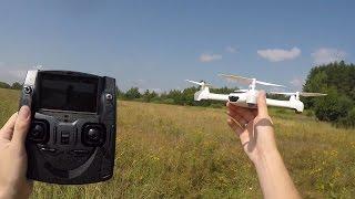 getlinkyoutube.com-Самый дешевый FPV квадрокоптер с GPS ... Hubsan X4 H502S FPV