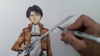 getlinkyoutube.com-Drawing Levi - Attack on Titan (Shingeki no Kyojin)