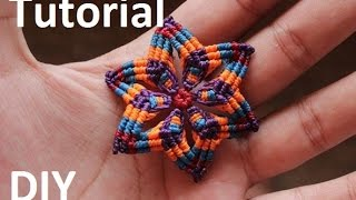 getlinkyoutube.com-como hacer aros macrame de flor | earrings macrame flower
