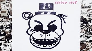 Como dibujar a golden freddy paso a paso | how to draw golden freddy step by step