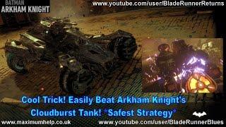 getlinkyoutube.com-Cool Trick! Easily Beat Arkham Knight's Cloudburst Tank! *Safest Strategy* Batman Walkthru New Game+