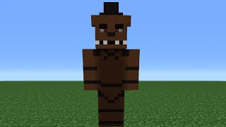 getlinkyoutube.com-Minecraft Tutorial: How To Make A Freddy Statue (Five nights at Freddy's)