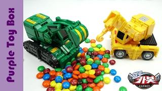 getlinkyoutube.com-Hello Carbot 5 Excavator And Crane Transformers 헬로카봇 시즌5 크랜 듀크 장난감