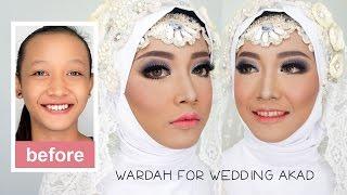 getlinkyoutube.com-Tutorial Makeup dan Hijab Pengantin Muslim Akad menggunakan Wardah Kosmetik Halal
