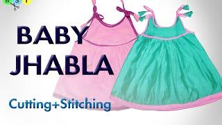 getlinkyoutube.com-Baby Jhabla (Frock)- Cutting and Stitching
