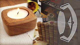 getlinkyoutube.com-Handmade Wooden Tea Light Holders From Start To Finish