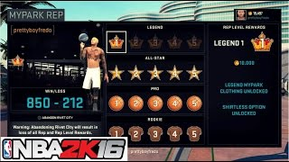 getlinkyoutube.com-NBA 2K16| FINALLY A MyPark LEGEND!!! The King is BACK!- Prettyboyfredo