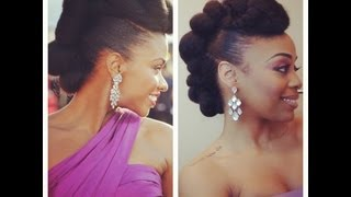 getlinkyoutube.com-RedCarpet-Ready Natural Hair Updo Inspired by Teyonah Parris! (Felicia Leatherwood)