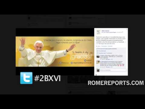 Twitter event allows users to thank Benedict XVI for his work