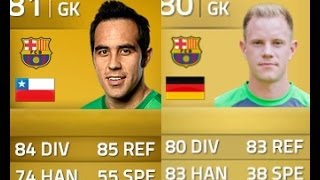 getlinkyoutube.com-FIFA FIGHT/REVIEW | CLAUDIO BRAVO VS TER STEGEN | WHO IS THE BEST BARCELONA GK?