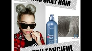 getlinkyoutube.com-HOW TO GET GRAY  HAIR-EASY!NO DYING! (USING FANCIFUL)-GRANNY HAIR!