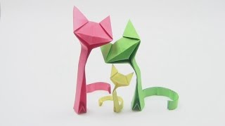 getlinkyoutube.com-Origami Cat by Richard Wang -Yakomoga Origami Cat of the Dollar (money) tutorial  折り紙 猫
