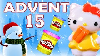 getlinkyoutube.com-Toy Advent Calendar Day 15 - - Shopkins LEGO Friends Play Doh Minions My Little Pony Disney Princess