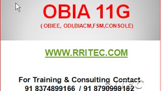 getlinkyoutube.com-OBIA 11.1.1.8.1 DEMO