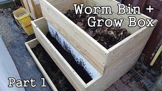 getlinkyoutube.com-Compost Worm Bin / Grow Box Garden Planter - part1 (DIY)