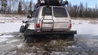 getlinkyoutube.com-Toyota Land Cruiser 80 with Unimog axles Ноябрьский брод