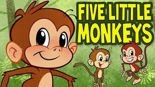 getlinkyoutube.com-Five Little Monkeys Jumping on the Bed - Animated Nursery Rhyme by The Learning Station