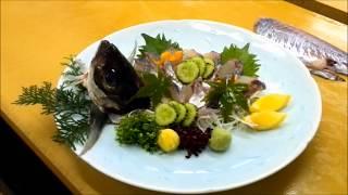 getlinkyoutube.com-アジのさばき方 刺身 サシミ つくり Horse mackerel  【日本料理】