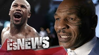 getlinkyoutube.com-Mike Tyson Swings At Floyd Mayweather & Floyd Doesn't Even Flinch - EsNews Boxing
