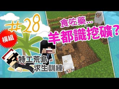 【Minecraft】 特工荒島求生訓練 #28 - 兩個特工病到要食藥?
