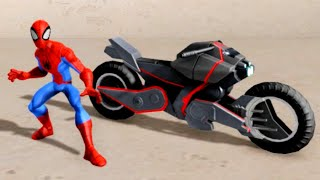 getlinkyoutube.com-Disney Infinity 2.0 Spider-Cycle Power Disc Free Roam Gameplay & Ability Showcase HD 60FPS 1080p