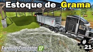 getlinkyoutube.com-Farming Simulator 17 - Enleirando e Pegando Grama #21