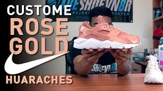 getlinkyoutube.com-Restorations with Vick - Custom Rose Gold Huaraches