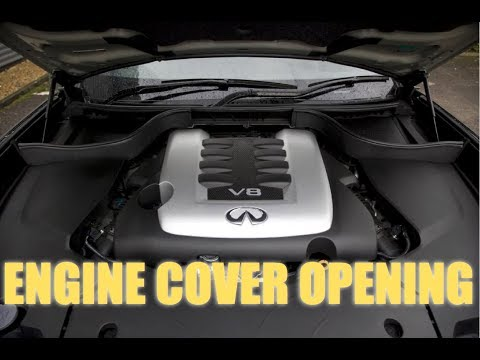 How to open Infiniti engine cover