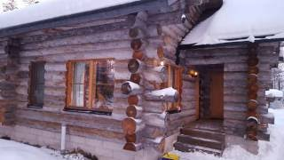 getlinkyoutube.com-yllas log cabin at lapland at christmas time