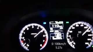 getlinkyoutube.com-SUBARU レヴォーグ LEVORG 2.0 GT-S 0-100km/h (ローンチコントロール:Launch control)
