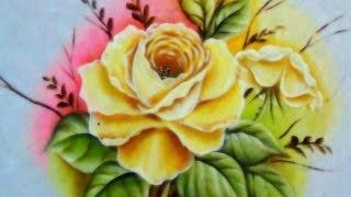 getlinkyoutube.com-Rosa Porcelanizada-Do desenho à Pintura!