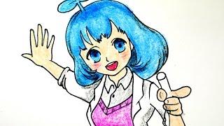 getlinkyoutube.com-How to draw a Girl(PrettyHerb #001) 쁘띠허브 님 그리기 cute kawaii かわいい 可愛 손그림 귀여운 예쁜 캐릭터 그림 그리는 법