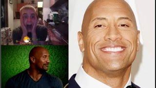 "getlinkyoutube.com-Dwayne ""The Rock"" Johnson - PRANK   CHATROULETTE"