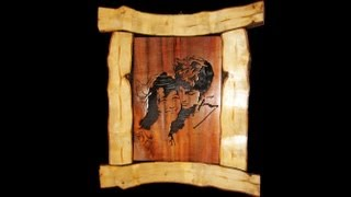 getlinkyoutube.com-Rustic Scroll Saw Portrait - Woodworking // How-To