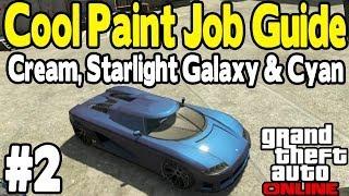 getlinkyoutube.com-GTA Online - COOL PAINT JOB GUIDE #2 (Cream, Starlight Galaxy & Electric Blue) [GTA V Customization]