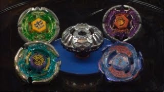 getlinkyoutube.com-EPIC Battle Prototype Nemesis 195RG VS Team GanGan Galaxy Complète (4 Beyblades) HD!