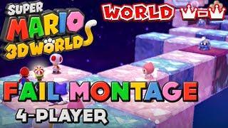 getlinkyoutube.com-Super Mario 3D World: World Crown Fail Montage (Uncensored)