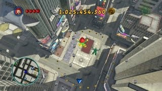 getlinkyoutube.com-LEGO Marvel Super Heroes - Times Square Area 100% (All Collectibles - Gold Bricks/Tokens/Missions)