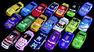 getlinkyoutube.com-20 Cars Piston Cup Racers Synthetic Rubber Tires Kmart K-day Race Cars Collection Disney toy