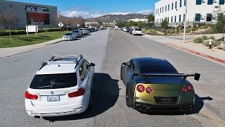 getlinkyoutube.com-MOTHER VS SON STREET RACE!