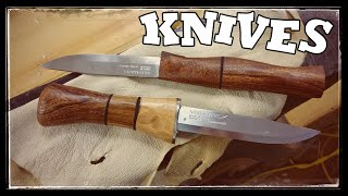 getlinkyoutube.com-Custom Bushcraft Knifes for 11$ ?!! (Custom Mora)